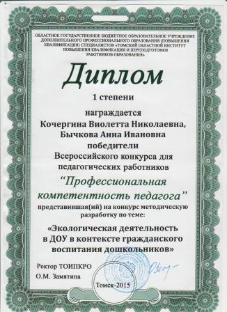 Диплом Кочергина и Бычкова-2015 г.