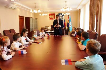 В кабинета А.М.Кропоткина